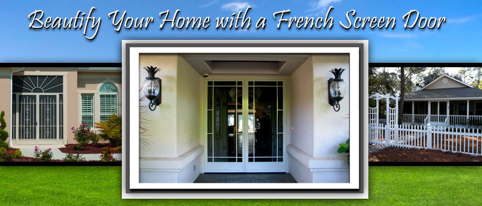 French Screen Doors Biloxi MS Gulfport Double Screen Doors